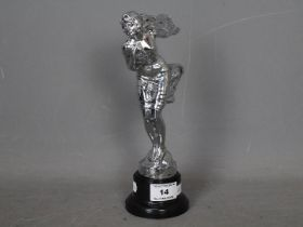 Automobilia - A Goddess car mascot by Mappin & Webb depicting a draped nude,