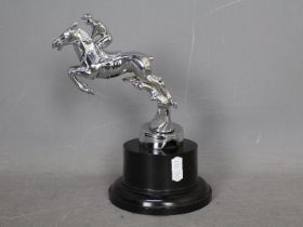 Automobilia - A Desmo car mascot in the form of a horse and jockey,