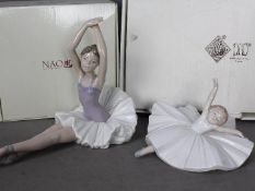 Nao - Two boxed figurines of ballet dancers comprising A Dancer's Pose # 1423 and Ballet Exercise #