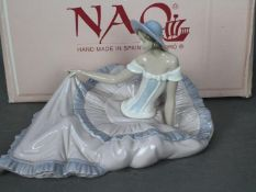 Nao - A large, boxed figurine entitled Grace, # 1265, depicting a reclining lady,