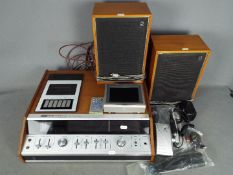 A DeccaSound DS9000 stereo cassette system with two speakers and a TFT-LCD colour television.