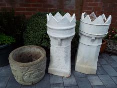 Two chimney pots,