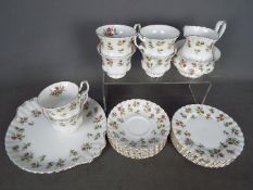 Royal Albert - A Winsome pattern tea service comprising six cups, six saucers, six side plates,