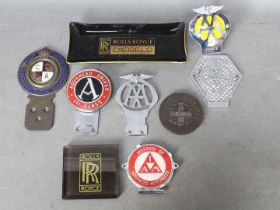 Automobilia - Lot to include a Royal Automobile Club associate car badge for the Commercial Motor