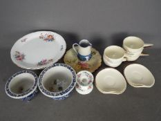 Ceramics to include a Royal Worcester floral plate, Minton Haddon Hall candlestick, Carlton Ware,