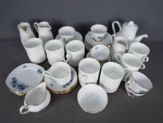 A collection of tea wares comprising Wedgwood and Colclough.
