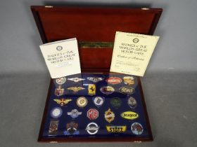 Automobilia - A set of Danbury Mint Badges Of The Worlds Great Motor Cars,