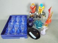 A collection of glassware, Murano, Caithness and similar.