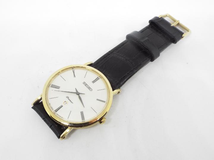 A gentleman's Seiko Premier wristwatch