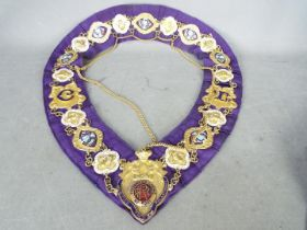 An ornate Masonic collar