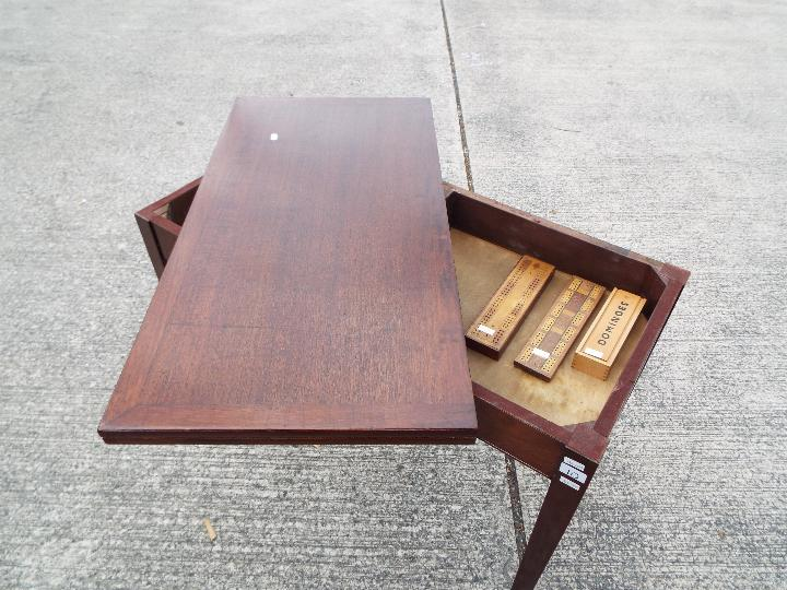 Liss Bros. Games Table with swivel fold - Image 3 of 5