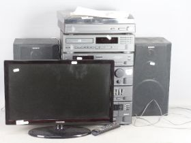 Sony stereo equipment including turntabl