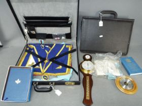 Masonic Interest - Two cases containing