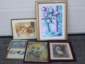 A collection of pictures, paintings, pri