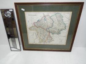 Westmorland vintage Map in frame, togeth