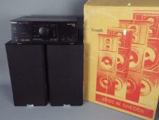 Stereo Equipment - A boxed pair of Sonab C-21 speakers and a Technics Stereo Integrated Amplifier,