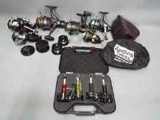 Fresh water Carp / Barbel / 6 x Course Fishing reels - Mitchell 300, SGT 4000X, Okuma L1000,