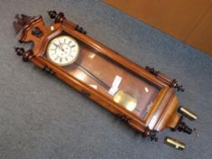 A good, late 19th century Vienna style wall clock,