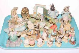 Collection of twenty three (twelve small) Border Fine Arts Beatrix Potter figures.