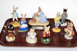 Collection of six Royal Doulton Bunnykins figures and three Brambly Hedge (9). Condition: All Good.
