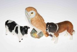 Beswick Ch. Claybury Leegwater, H. Corna-Garth Stroller and Owl 1046 (3). Condition: All Good.