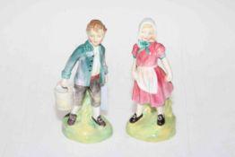 Royal Doulton Jack and Jill, HN2060 and HN2041. Condition: Both Good.