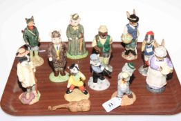 Collection of Eleven Beswick animal figures including three piece band.