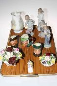 Tray lot with eight pieces of Royal Doulton Brambly Hedge and three Royal Doulton small character