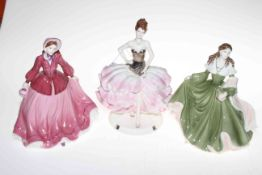 Collection of six Coalport limited edition figures, Star Attraction, Sari Sensation, Biddy, Bridget,