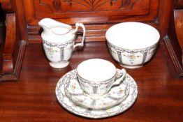 Crown Staffordshire twenty piece tea set, pattern no. 9380.