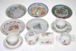 Sixteen pieces of Wedgwood Peter Rabbit and teapot,