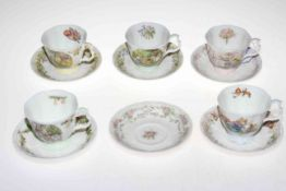 Six Royal Doulton Brambly Hedge beakers and five cups and six saucers (17). Condition: All Good.