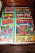 Nine Marvel comics Dec 72 and Jan 73, battery operated Western Special locomotive,