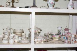 Collection of Royal Doulton Juliet dinnerware, Meakin including tureens, Goebel, etc.