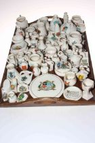 Large collection of crested china.