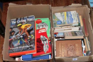 Four boxes of cycling interest books and ephemera.