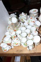 Virginia Strawberry pattern part tea and dinner service by Ringtons, approximately 55 pieces.