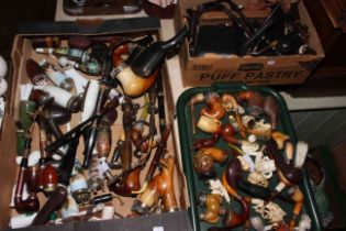 Large collection of assorted pipes, cases,