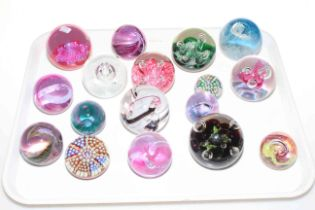Collection of mainly Caithness glass paperweights (17).