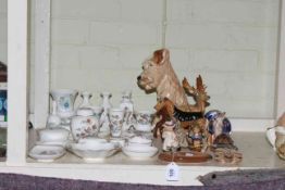 Wedgwood Clementine and Kutani Crane vases and dishes, Beswick, Sylvac and Doulton dogs,