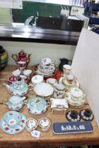Collection of Hammersley, Noritake, Wedgwood Jasperware, etc.
