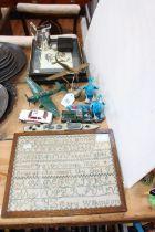 1850 alphabet sampler signed Mary Wilkinson, 27cm by 22cm,