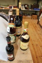 Six bottles of wine including Tokaji Aszu, Japanese Sake, Giordano, Moscatel, etc.