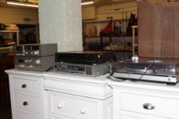 Technics SL-QZ quartz turntable, M14 tapedeck,