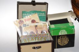 Box of Beatles singles including The Beatles Collection in box, Magical Mystery Tour with Storybook,