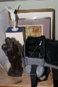 Canon AI-1 camera, lenses and accessories, Roland Chadwick bronze effect Lovers figure,
