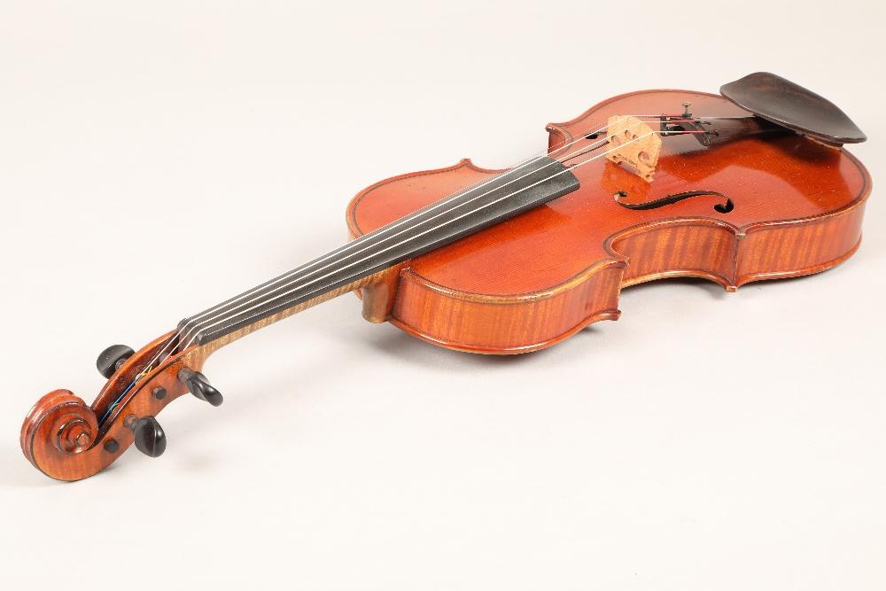 Violin by Jean Baptiste Collin Mezin, dated 1887. Interior label CH J B Collin-Mezin, Luther A - Image 2 of 14
