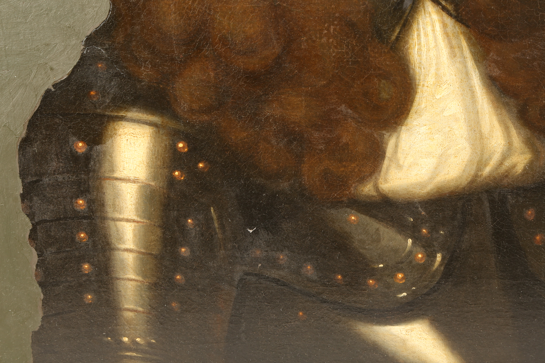 British School (19th century) Gilt framed oil on canvas 'Portrait of a Gentleman' 70cm x 57cm - Image 5 of 6