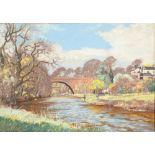 William Douglas MacLeod (Scottish 1892-1963) ARR Framed pastel, signed 'Brig O'Doon, Alloway' 38cm x
