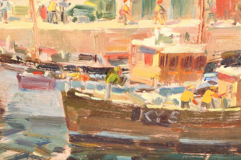 John McCutcheon ROI (Scottish born 1910) ARR Framed oil on board, signed 'Anstruther' 49cm x 59cm - Image 3 of 5